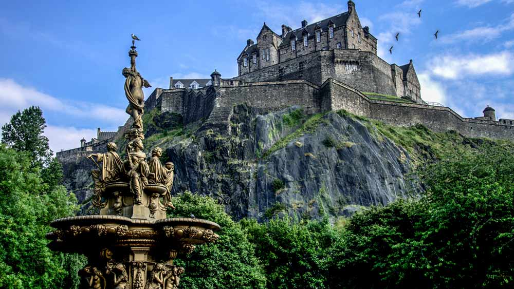 Edinburgh Castle in Schotland