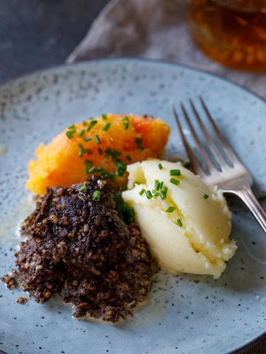 Haggis en Mash uit Edinburgh Schotland