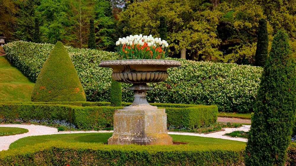 Formal gardens in Stately Home