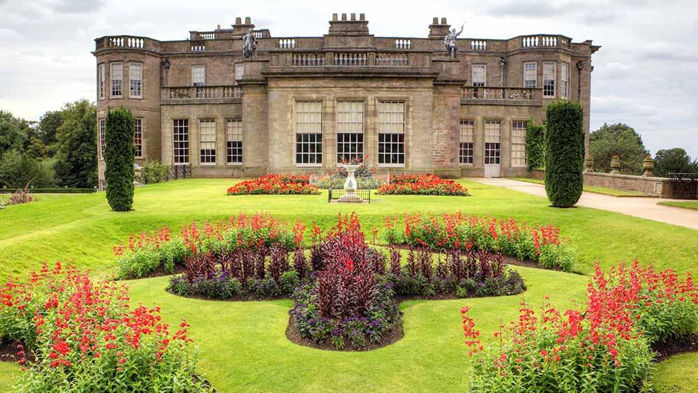 Formal gardens of Lyme Hall