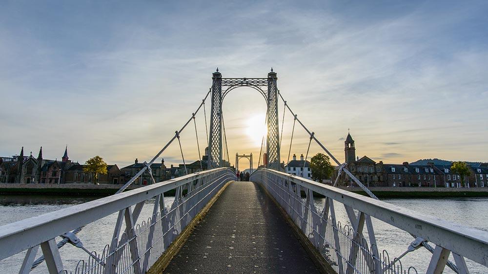 Brücke in Inverness, Schottland