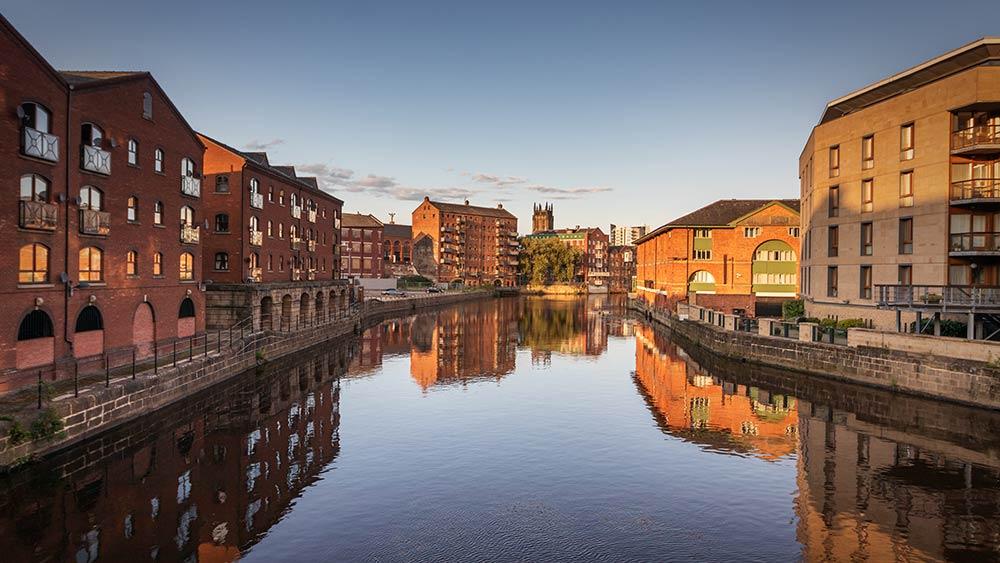 Kanäle in Leeds