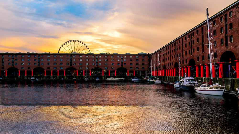 Royal Albert Dock in Liverpool, Engeland