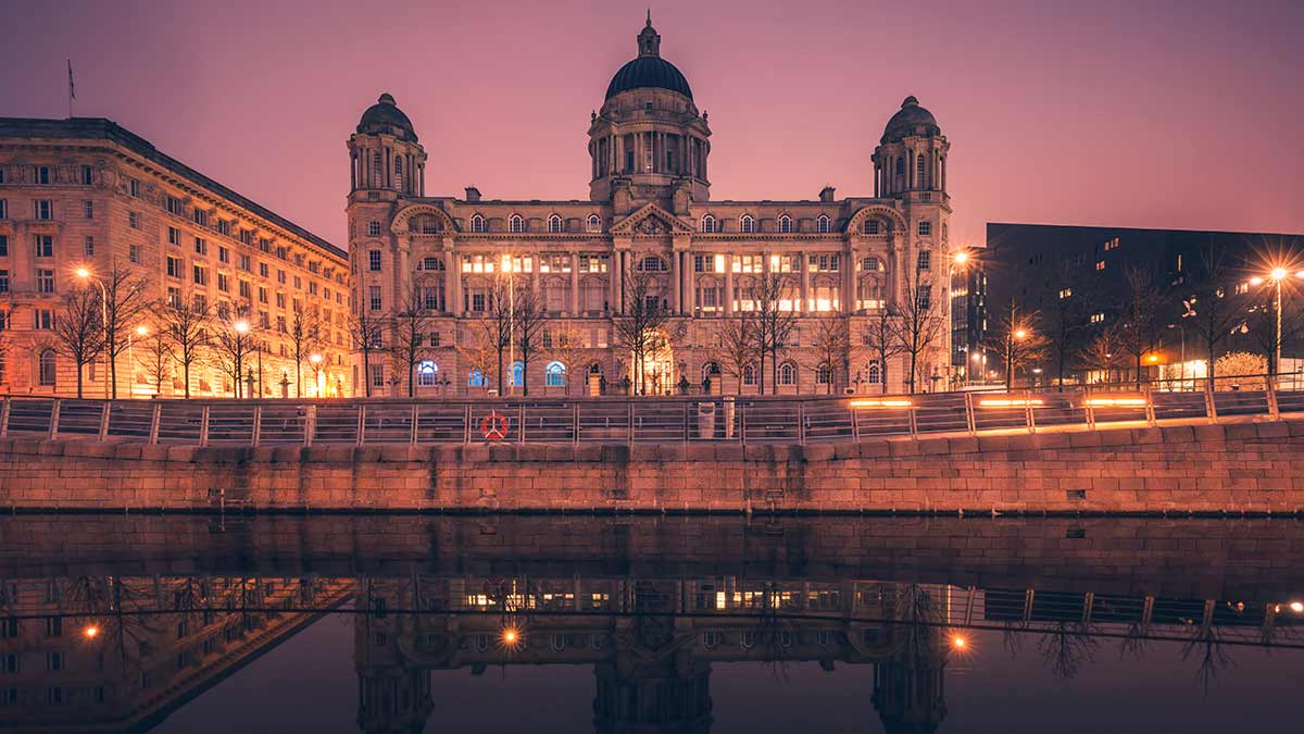 Hafengebäude in Liverpool