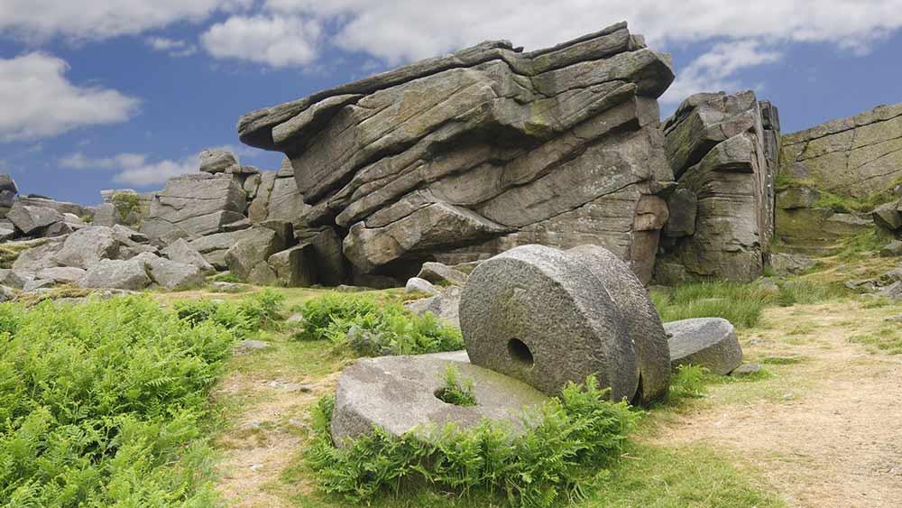 Stanage Edge dans le parc national de Peak District