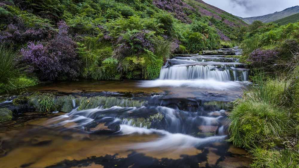 Chute d'eau dans le Peak District