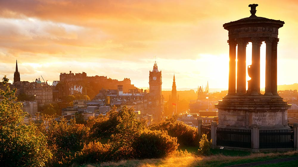 Edinburgh in Scotland