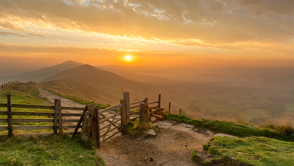 Sonnenaufgang im Peak District