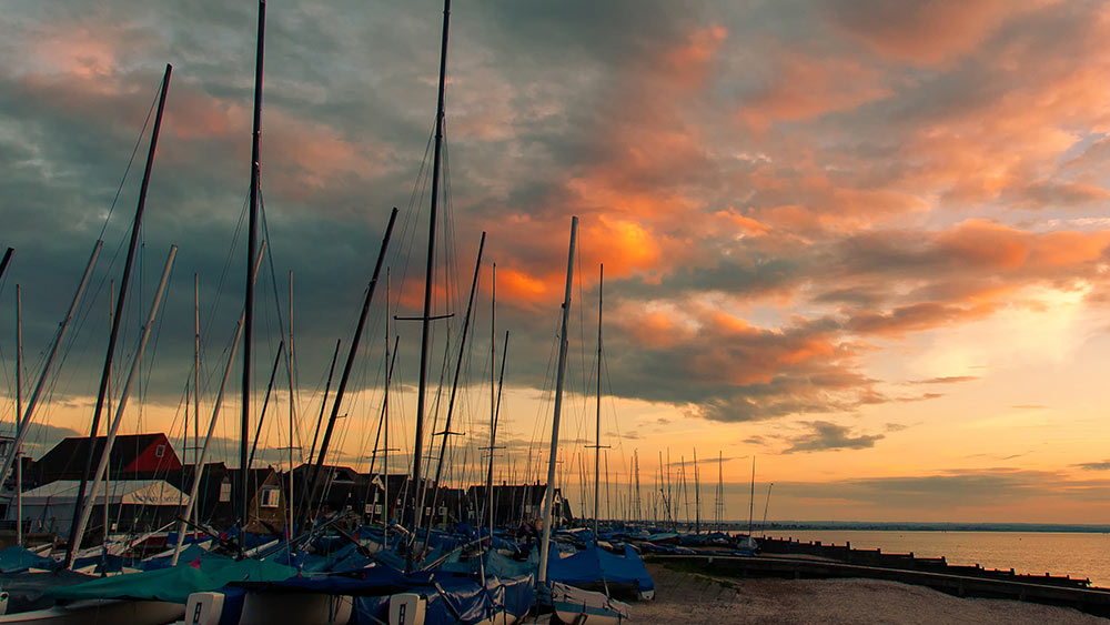 Sunset in Whitstable, England