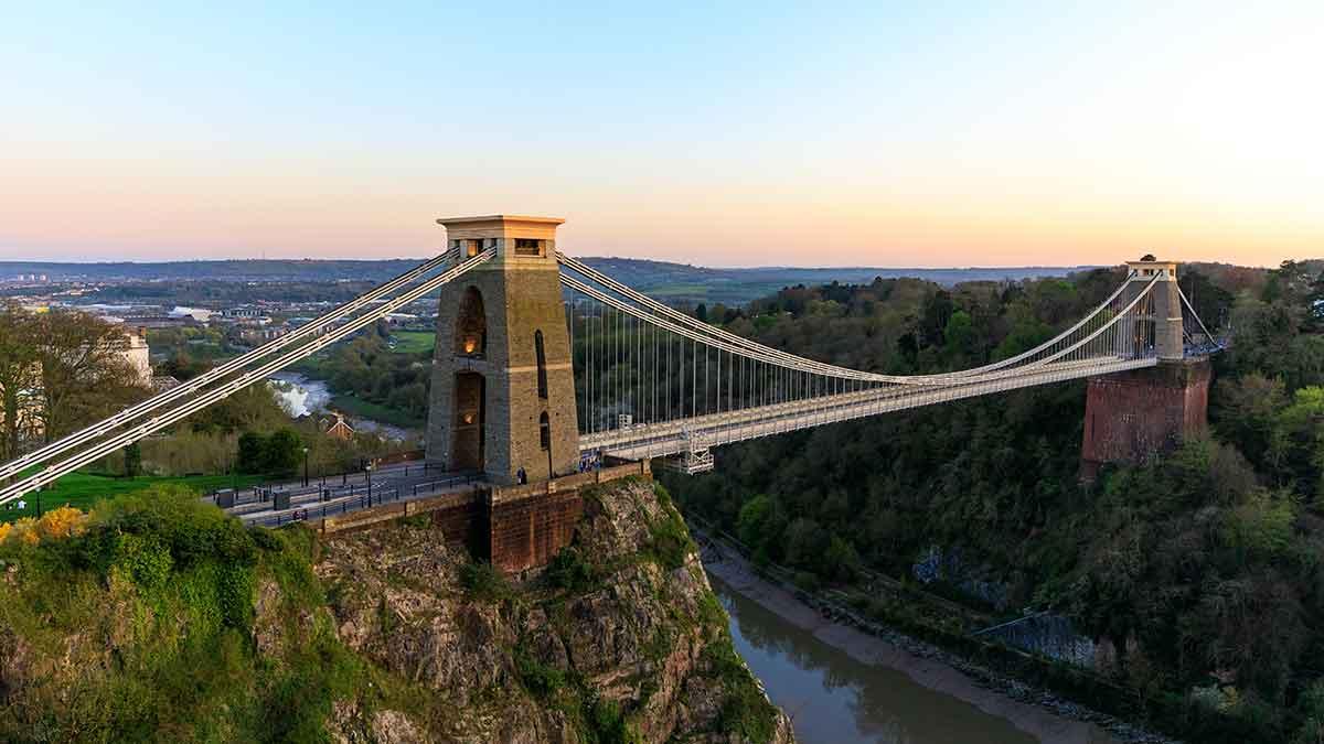 Clifton-hangbrug in Bristol, VK
