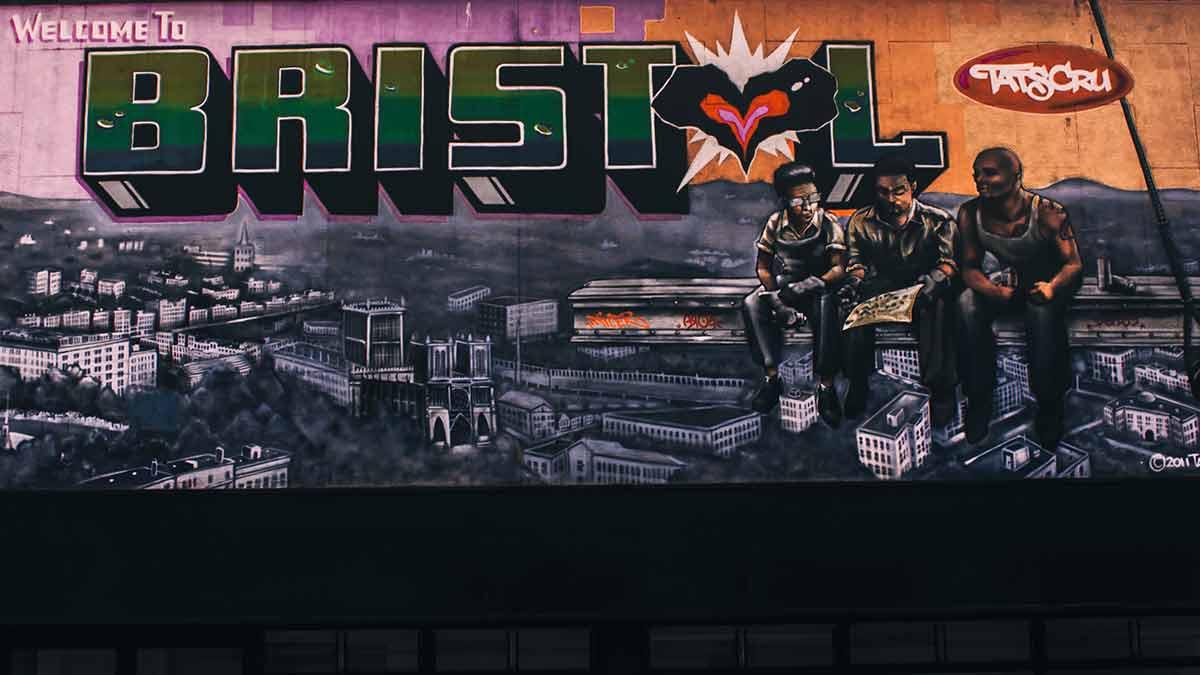 Bristols Straßenkunst-Wandgemälde