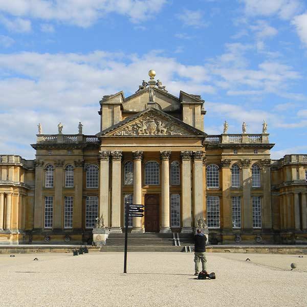 Les terrains du Blenheim Palace dans l'Oxfordshire