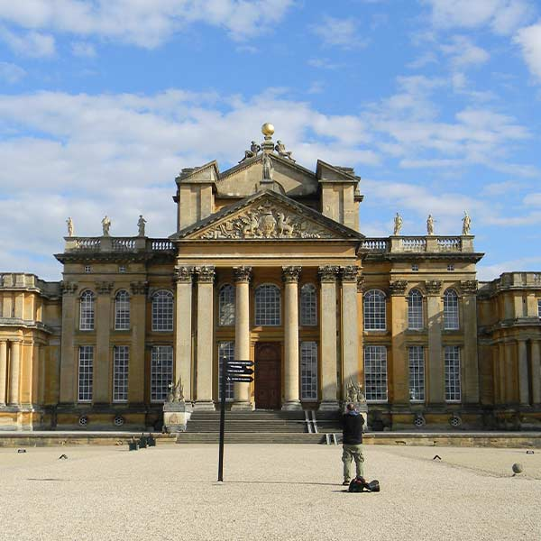 Blenheim Palace in Oxfordshire Engeland