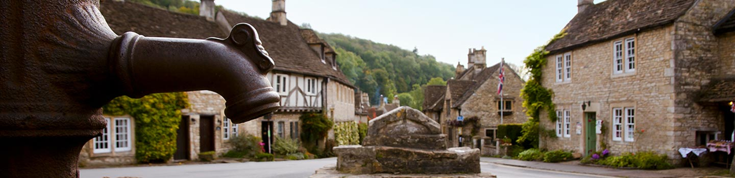 Castle Combe in Cotswold England