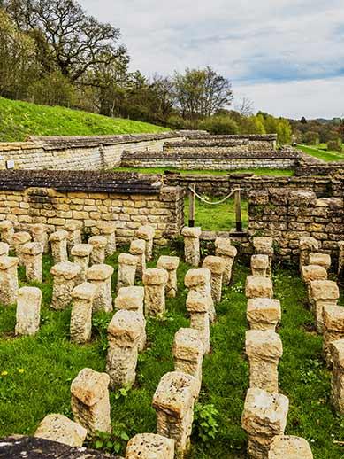 Römisches Dorf in Cirencester, England