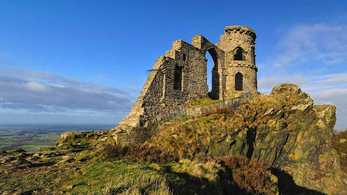 Mow Cop Castle in England