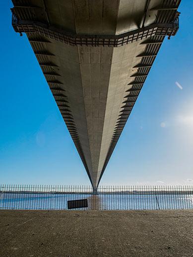 Humber bridge Hull in England