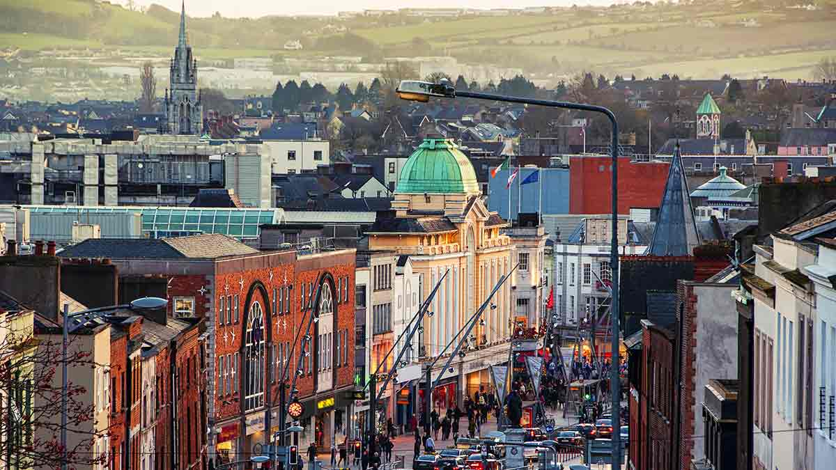 Beautiful cityscape of Cork in Ireland