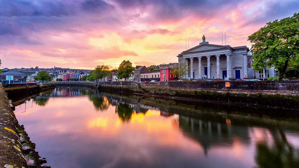 Sunset in Cork City Centre