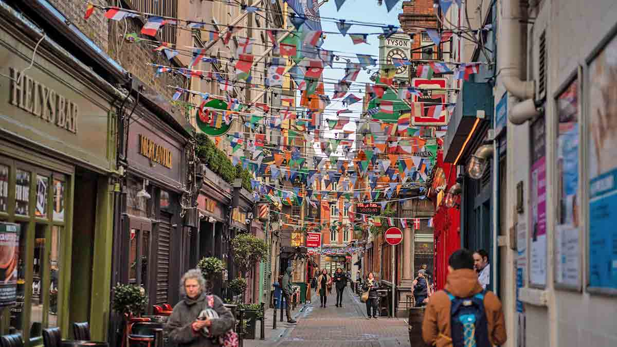 Street bunting in Dublin, Ireland