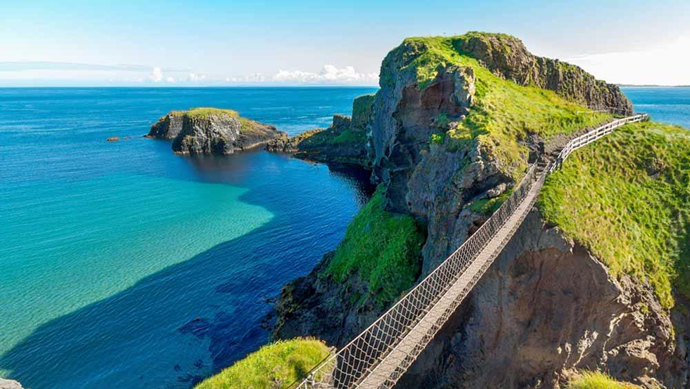 Carrick-A-Rede-Seilbrücke in Nordirland