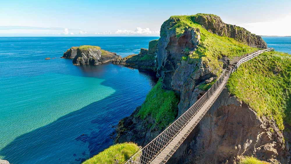 Carrick A Rede Rope Bridge in Noord-Ierland