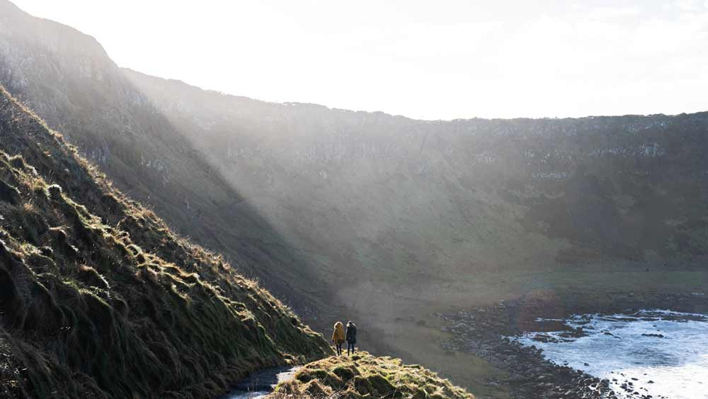 Giants Causeway-landschap in Noord-Ierland
