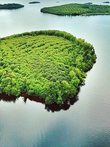 Lough-eilanden in Noord-Ierland