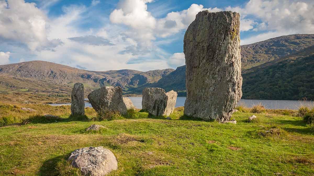 Mystische keltische Menhire