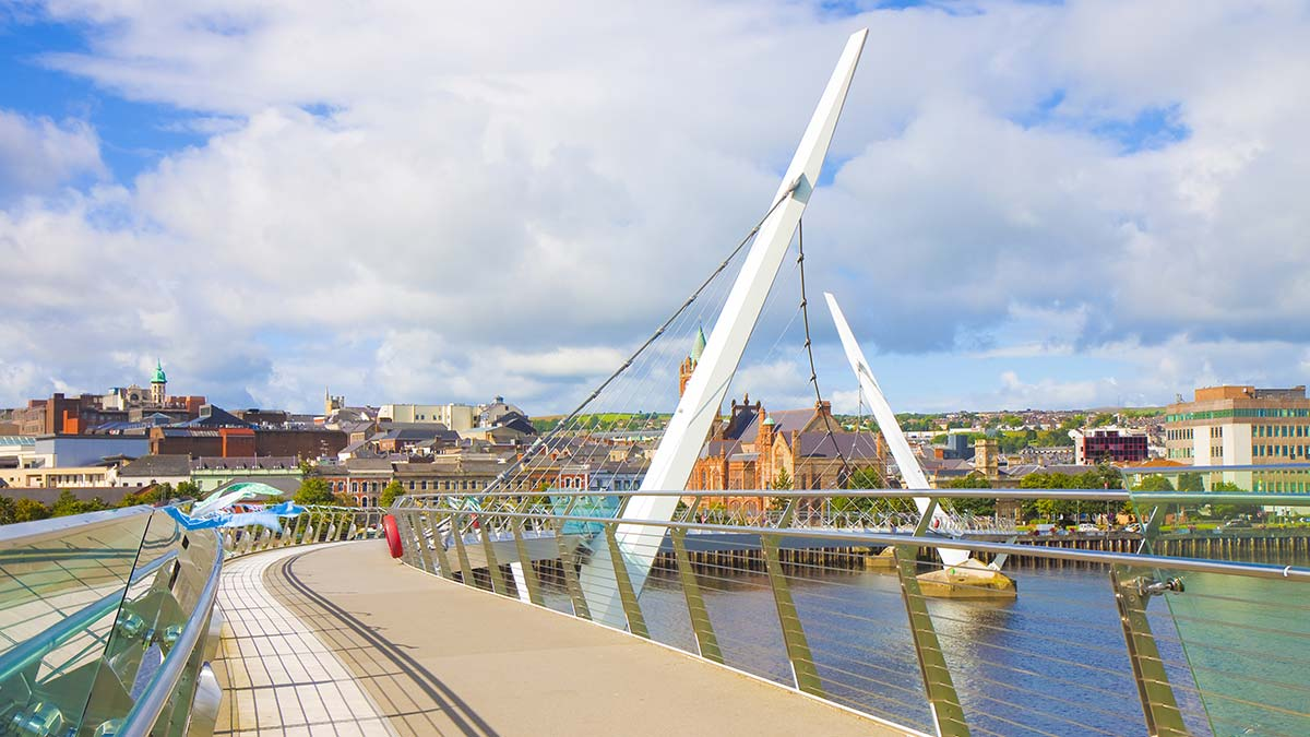 Peace Bridge in Ireland
