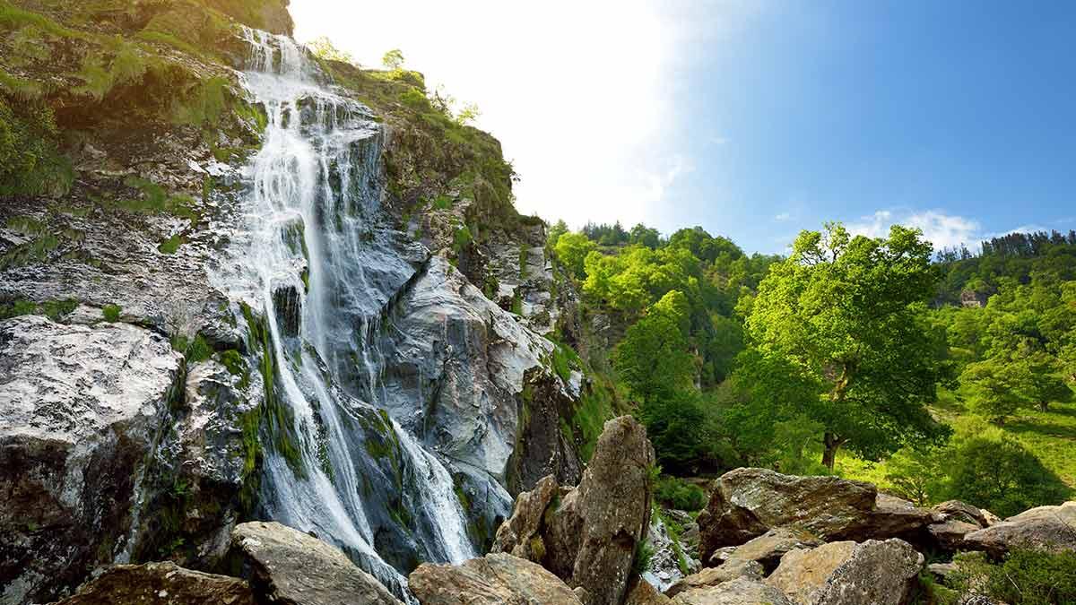 Powerscourt-Wasserfall in Irland