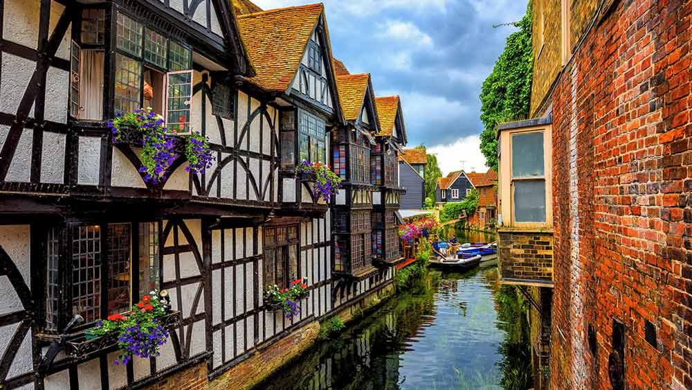 Canterbury Old Town in Kent, England