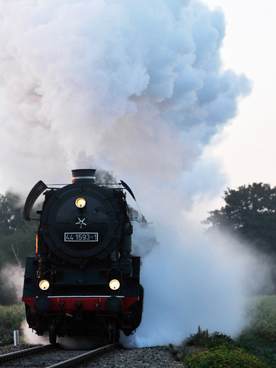 Steam train in Kent, England