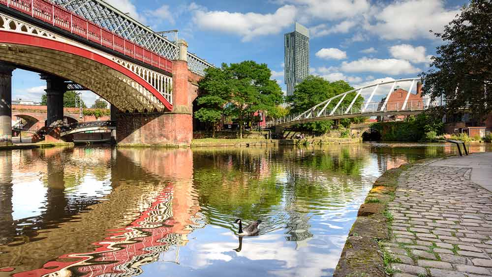 Castlefield Basin in Manchester England