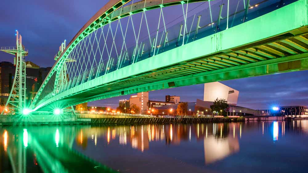 Millennium Bridge in Manchester, England