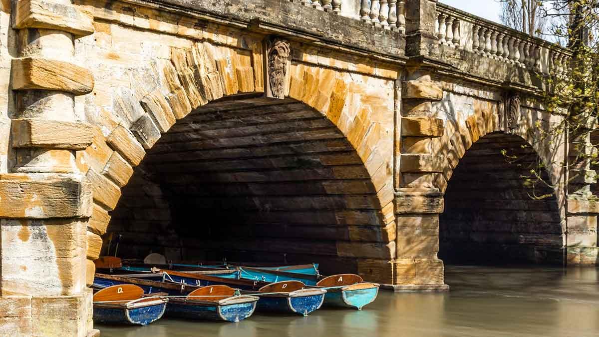 Punt docks in Oxford