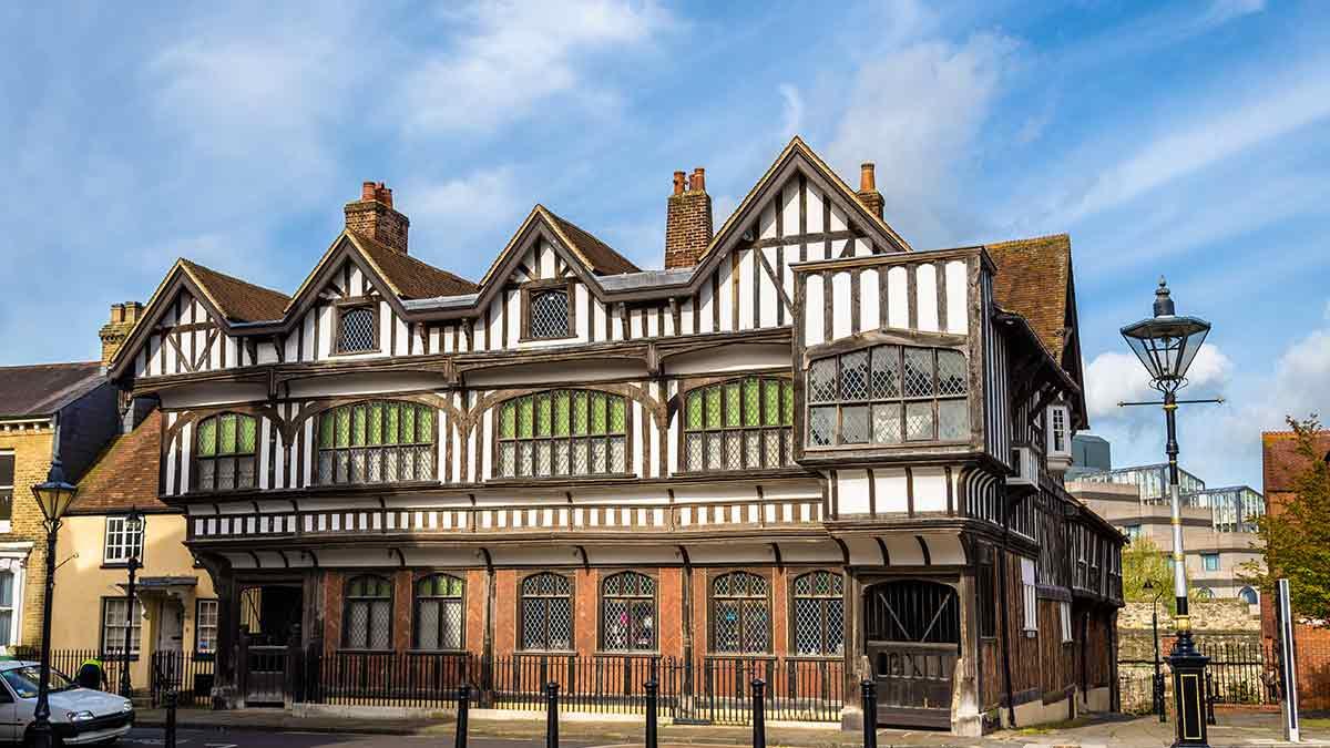 Tudor house in Southampton