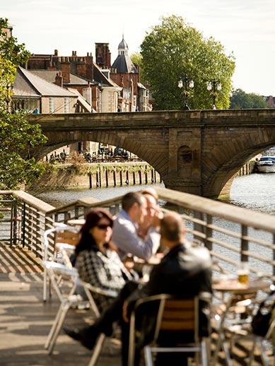 La rivière Ouse à York, Yorkshire, Angleterre