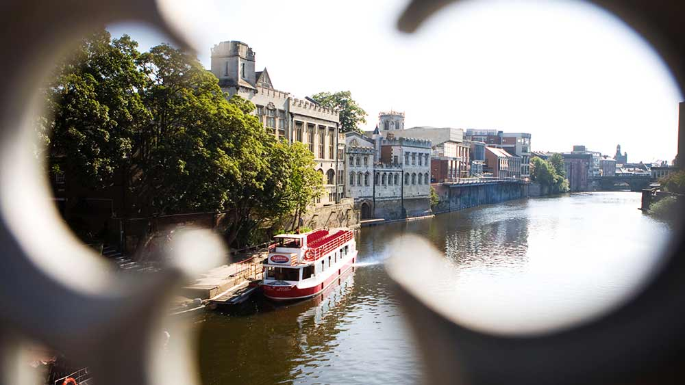 View of the River Ouse in York, Yorkshire