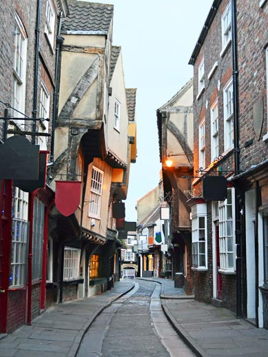 The shambles in Yorkshire, Engeland
