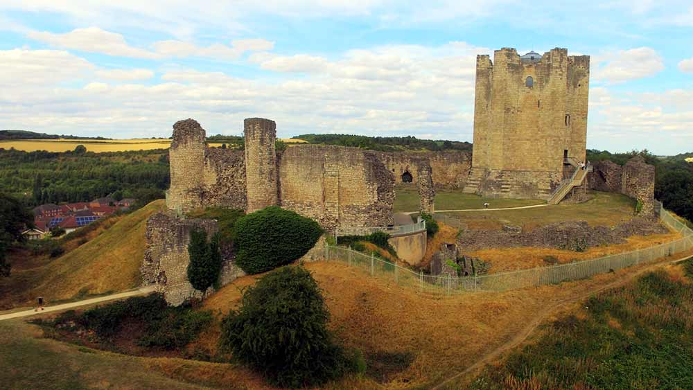 Conisbrough Castle in Doncaster, Engeland