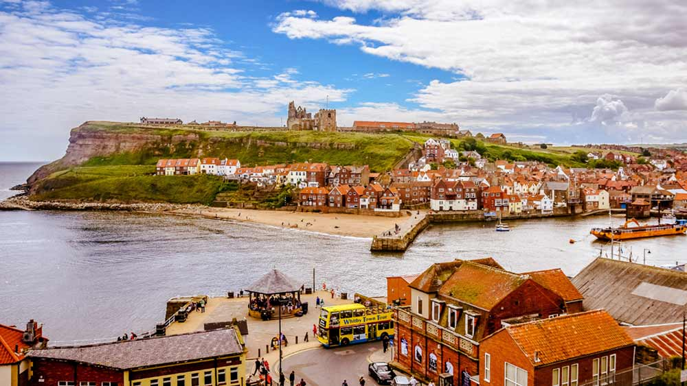 Whitby in Yorkshire, England