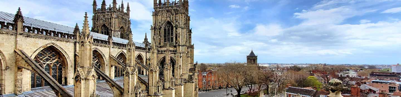 La cathédrale de York dans le Yorkshire, en Angleterre