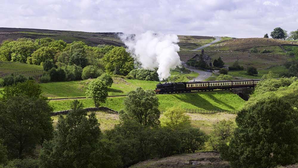 Train à vapeur dans le Yorkshire, Angleterre