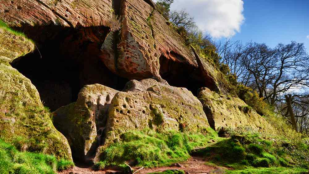 Ancient cave dwellings in Stourbridge