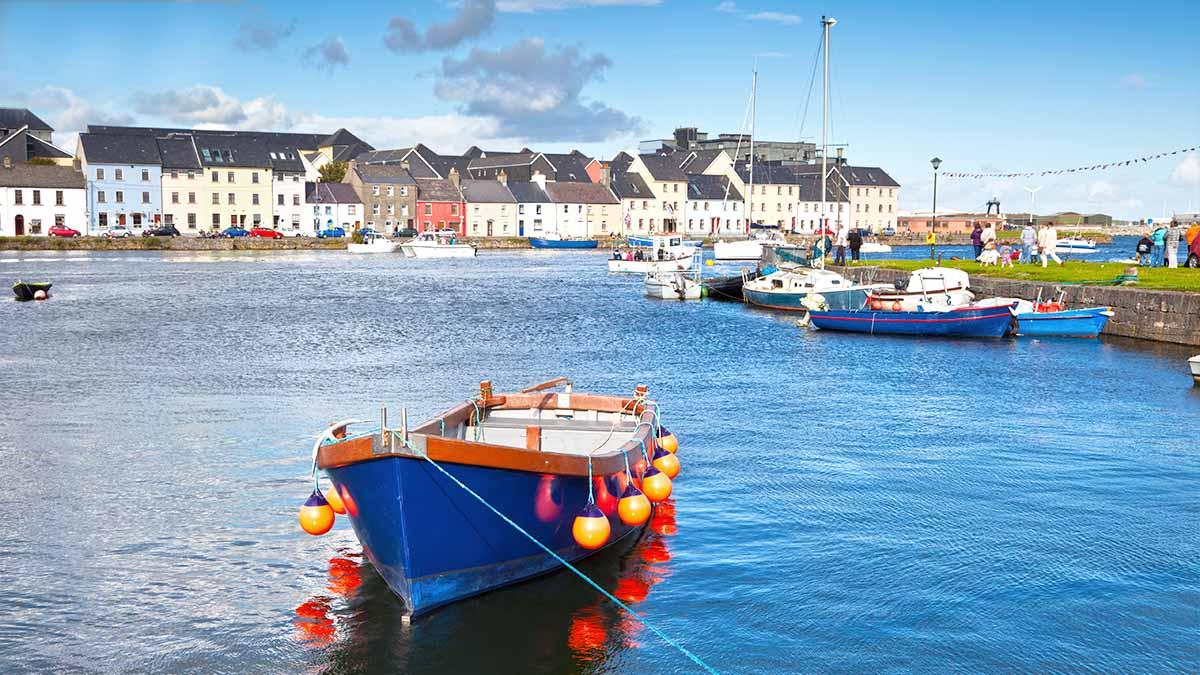 Fischerboote in Galway