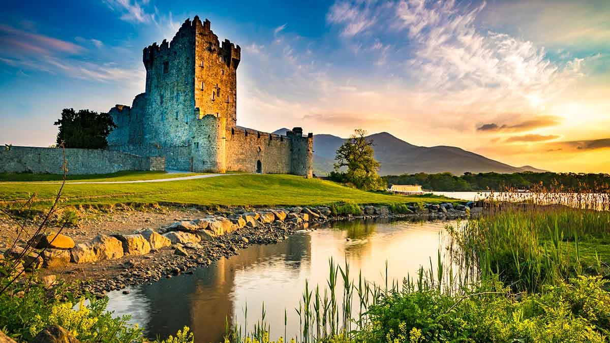 Ross Castle in Kerry, Ierland