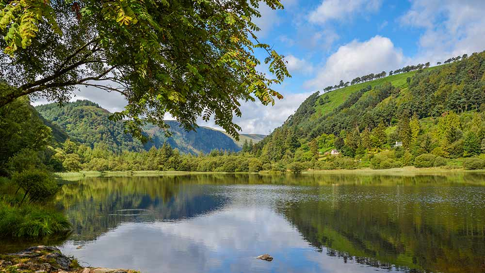 Glendalough Valley in County Wicklow