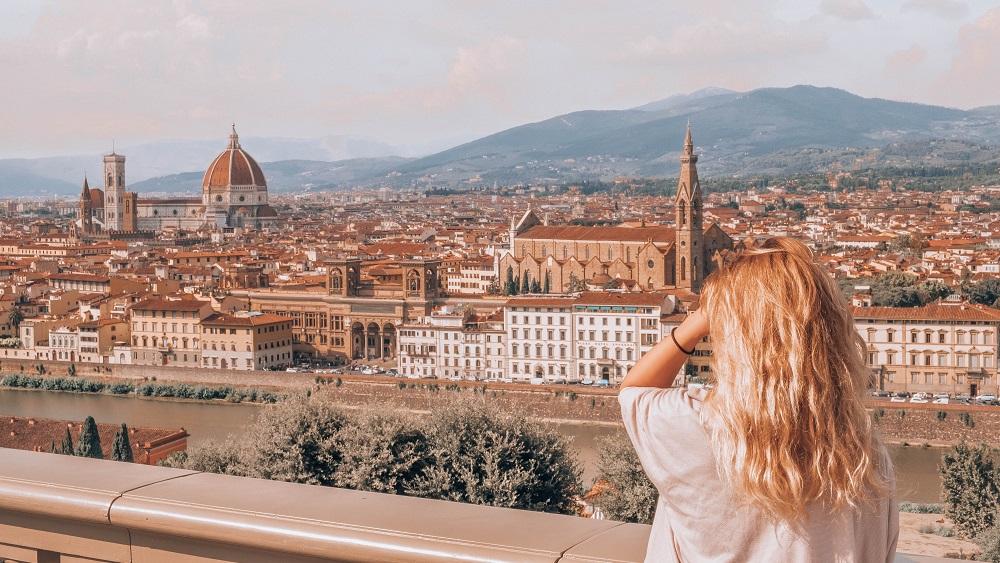 Tourist visiting Florence