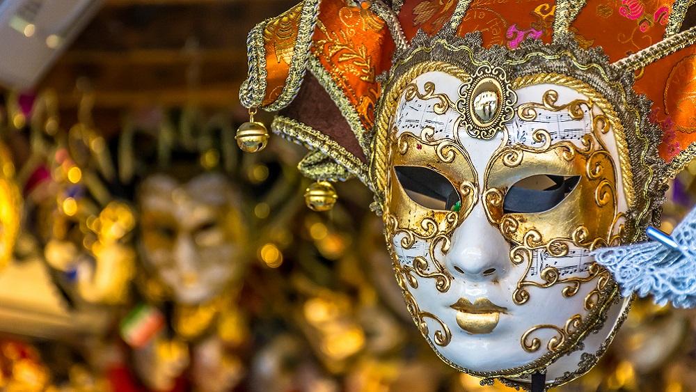 Venetian mask shop in Venice, Italy